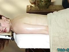 Big tit chick massage