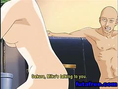 Hentai schoolgirl sucking cock and fucking