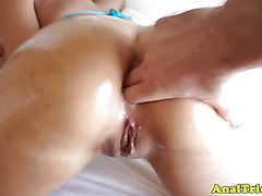 Anal loving newbie gets ass fingered by lucky dude POV