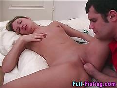 Teen slut fisted facial