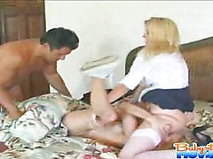 Horny Nadia gets screwed by boss monster cock