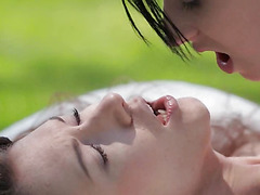 Teen lesbians licking their cunts