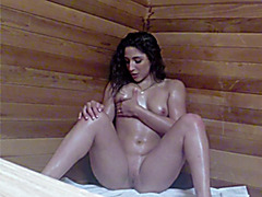 Abella gets caught masturbating in sauna