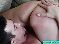 Stepdaughter sixtynining her new stepdaddy