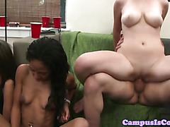 Real college students orgy party fun