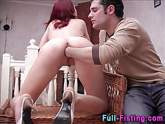 Teen fisted and soaked