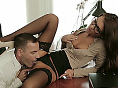 Secretary Alexis works up a sweat