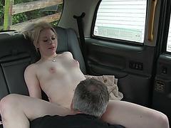 Gorgeous blondie slut gains cash after sex and receives a hot cum