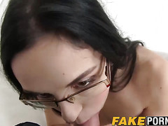 Elis tries her luck with an agent and takes his cock deep
