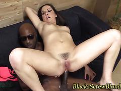 Big black cock facial