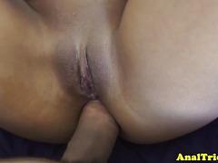 Latina gf ass fucked till her gapeshot
