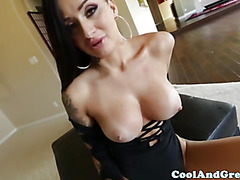 Skanky amateur bitch pov cock sucking