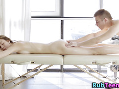 Massaged oiled up pussy
