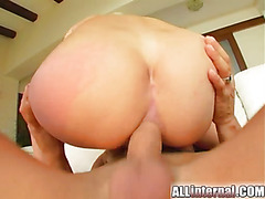 All Internal Beauty squirts a cum jet from her freshly fucked ass