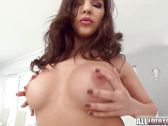 All Internal Russian cutie squirts big and gets ass stuffed