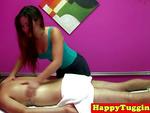 Real nuru masseuse jerking customers dick