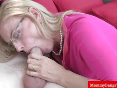 Mature milf busted with her stepson