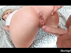 Fine ass blonde pussy stuffed with huge cock