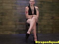 Tattooed bdsm goth tiedup and interviewed