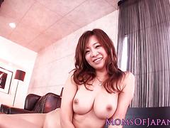 Busty longnailed japanese MILF facialized