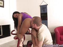 Ebony booty spunked over