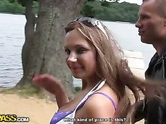 Real outdoor porn video with hot teen girls