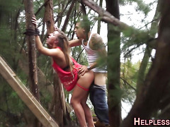 Fetish lost teen tied