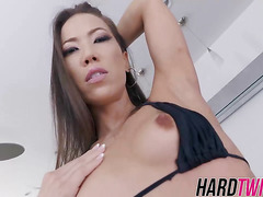 Horny Kacey Lane gets pounded hard in a few sex positions