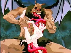 Redhead anime cutie giant monster bat fucked