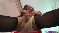 Amateurs panties cumshot
