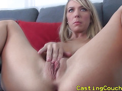 Innocent blonde at casting couch x audition