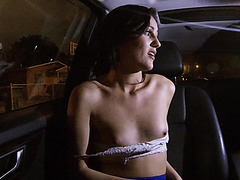Brunette and horny Renee Roulette gets spotted and fucked by dude