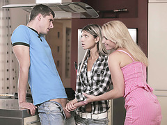 Stepmom Kathia Nobili join in threesome sex with Gina Gerson and her bf