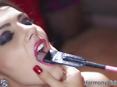 Only a woman can truly make a woman submit. We learn this in this hot and steamy lesbian scene with British Babe Megan Coxxx, black stunner Skin Diamond and voluptuous Valentina. Hard girl girl girl action at its best.