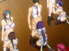 Hentai maids hot sucking shemale stiff cocks