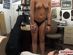Latina woman pawns a stuff and slammed by horny pawnkepper