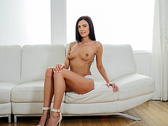 Brunette and tasty Marley Brinx gets fucked in 3D audio by lover