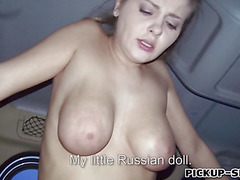 Bigtits Eurobabe Alexa fucked in the car
