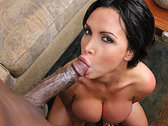 Horny babe Nikki Benz with a huge cock