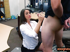 Big butt babe pawns her pussy and nailed in the backroom