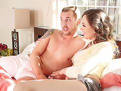 Hot stepmom Jade catches lovers fucking in her house