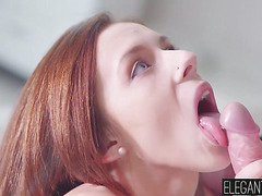 Busty Tracy bends over to take his cock deep inside her ass