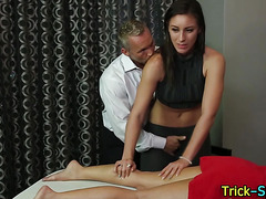 Masseuses pussy fingered