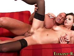 Busty glam hottie anal
