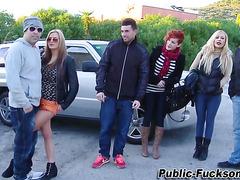 Public blonde fucked