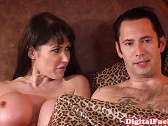Huge titted deepthroater gets analized