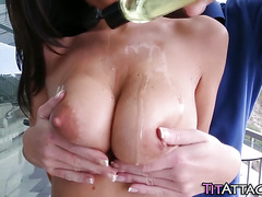 Juggs whore cum drenched