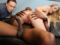 Iris Rose gets creampied by BBC in front of her perky
