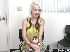 Slutty teen gets railed