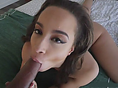 Stepsis Teanna Trump gives head and pounded by big cock